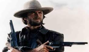 Clint Eastwood with guns